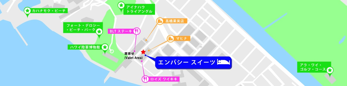 エンバシースイーツ 地図